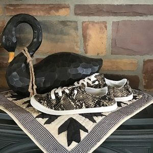 Snake Print Comfort Slip on Sneakers